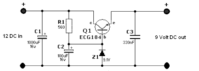 Simple 12 Volt To 9 Volt Dc Dc Converter on dc capacitor