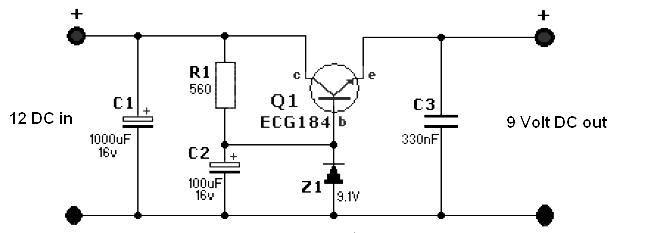 [SCHEMATICS_43NM]  Simple 12 Volt to 9 Volt DC-DC Converter - Power Supply Circuits | 12 Volt Dc To 24 Volt Dc Wiring Diagram |  | Power Supply Circuits