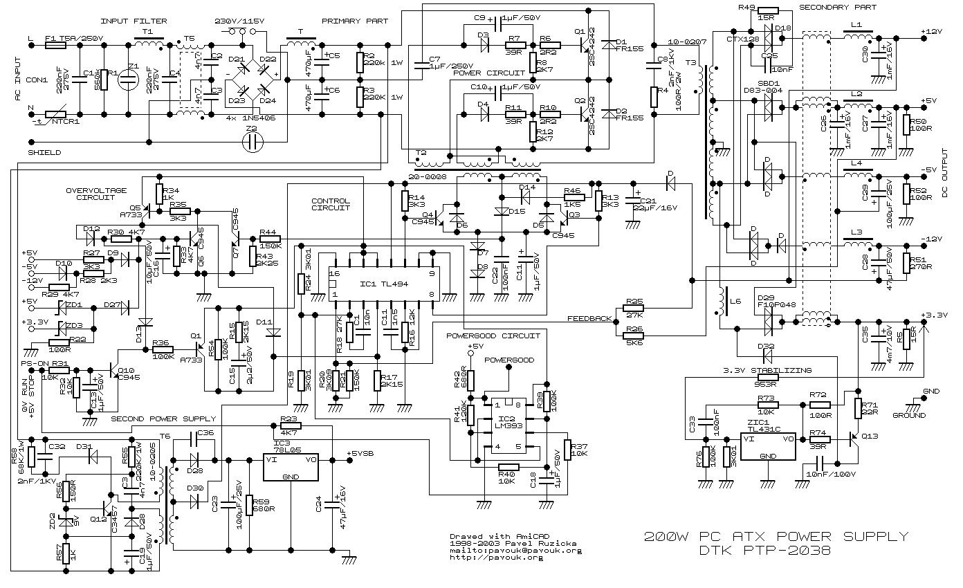 200 W Inverter Circuit Diagram Wiring Library Electronic Circuits How To Make A Simple At Home 200w Atx Power Supply