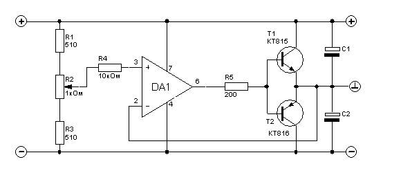 15v Power Supply Circuit Diagram 30v to ±15v Power Supply