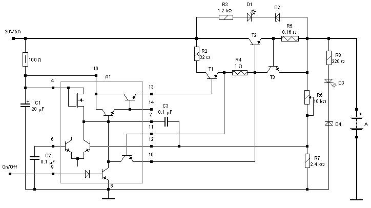 Car Battery Charger Power Supply Circuits