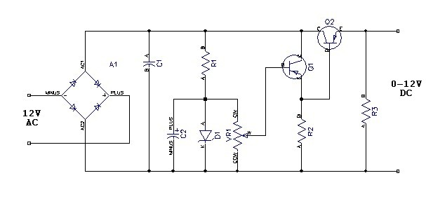 variable power supply 0 to 12 v power supply circuits0 12v Power Supply Circuit Diagram #2