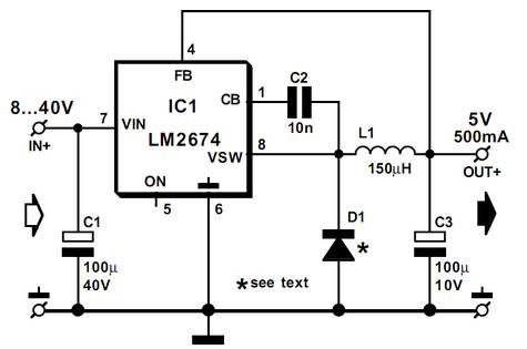 5v switch mode power supply using lm2674