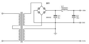 Class A Tube Amplifier Power Supply