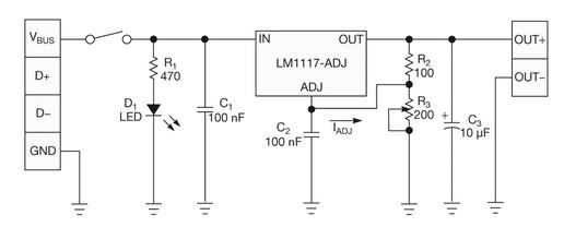 Стабилизатор напряжения на lm1117 схема