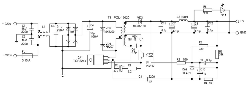 Switching Power Supply Diagram Basic - Search For Wiring Diagrams •