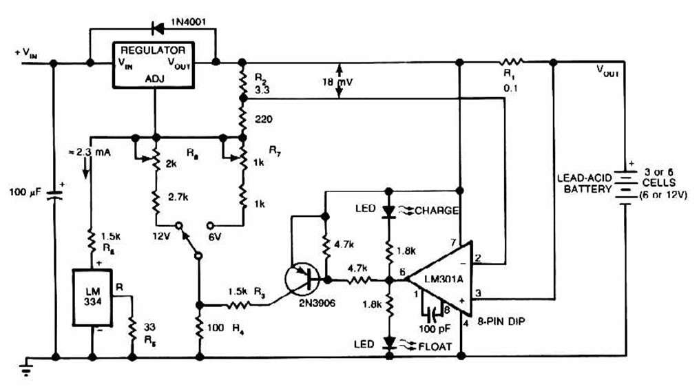 Lead Acid Battery Charger Power Supply Circuits