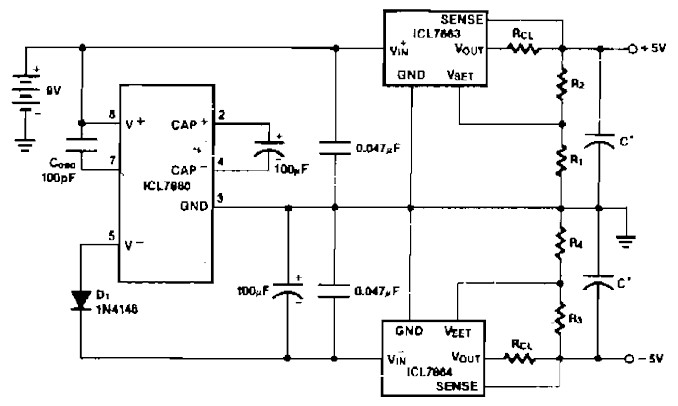 Power Supply Splitter 9v To 5v Power Supply Circuits
