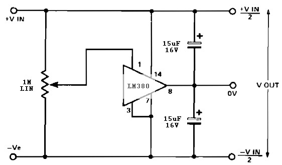 Simple Split Rail Power Supply Based Lm380 Power Supply