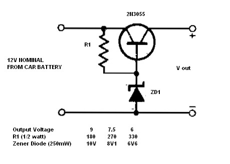 12v solenoid valve wiring diagram schematic simple    12v    to 9  7 5 or 6v converter power supply circuits  simple    12v    to 9  7 5 or 6v converter power supply circuits