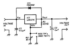 variable voltage regulator base LM117