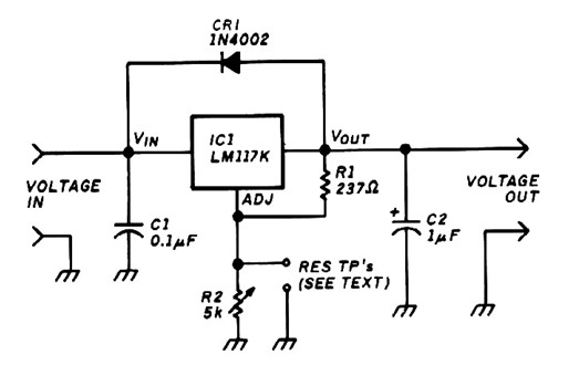 variable voltage regulator based lm117
