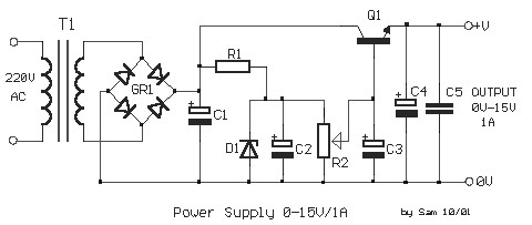 15v Power Supply Circuit Diagram 1a Power Supply Circuits