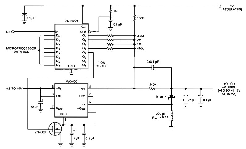 lcd circuit diagram