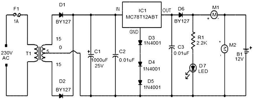 Charger Car Battery Circuit