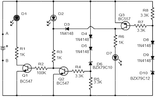 Car battery monitor schematic