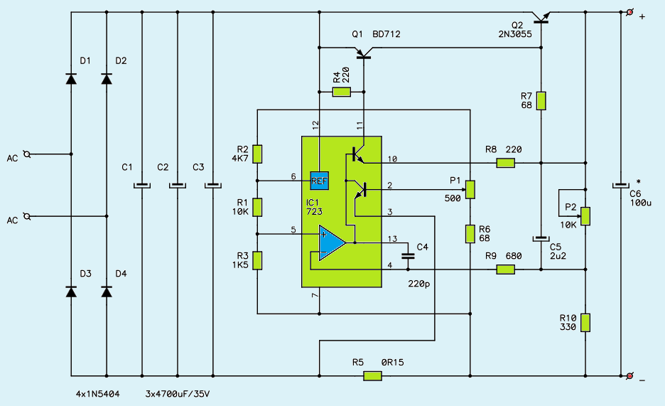 Circuit Diagram Also Variable Dc Power Supply Circuit Furthermore Dc