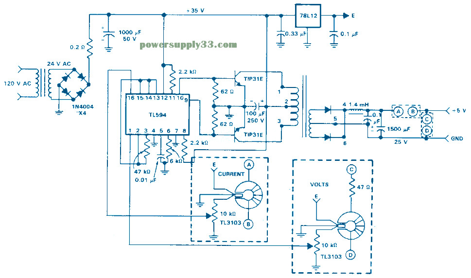 Isolated Feedback Smps Circuit Design on atx power supply schematic diagram