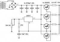 15 A adjustable power supply circuit