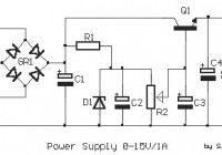 Adjustable Regulated Power Supply 0-15V – 1A