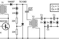 Converter 9V to 13.5kV circuit