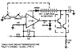 Thermally Controlled Nicad Charger