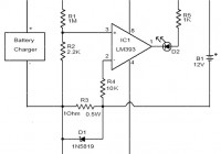 Battery charger indicator circuit