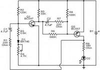 Flashing battery monitor circuit diagram