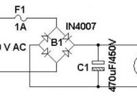 Simple 400vdc power supply