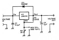 Variable Voltage Regulator based LM117