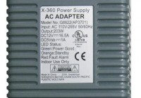 xbox 360 power supply specs